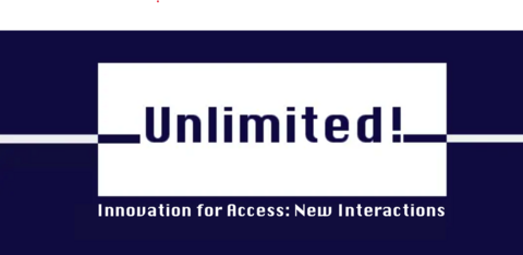 the word Unlimited in blue sits in white rectangle, a horizontal line in contrasting colour cuts across the frame.